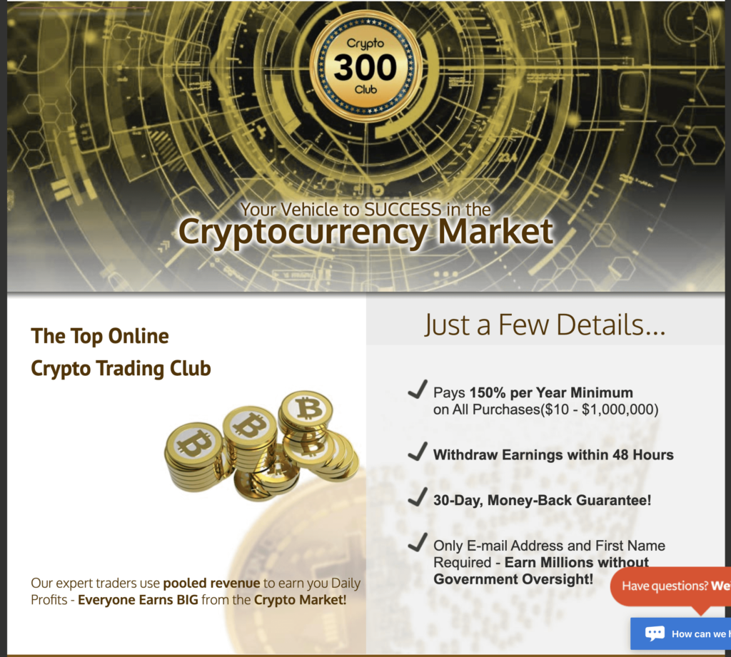 crypto 300 club website